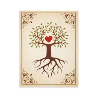 High Quality Family Reunion Invitation Featuring A Beautiful Tree With Branches  Surrounding A Heart And A Frame With ...
