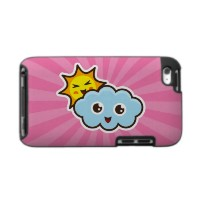 Cute kawaii sun and cloud pink ipod touch case