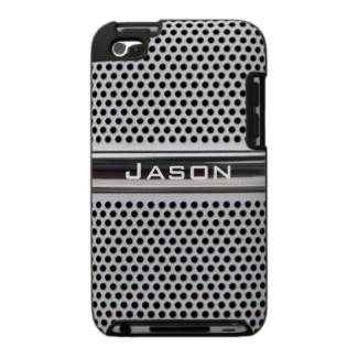 Personalized speaker metal grid iPod touch case