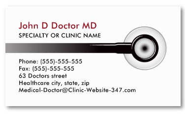 Doctor business cards generic with stethoscopes md and gp generic business card cheaphphosting Images