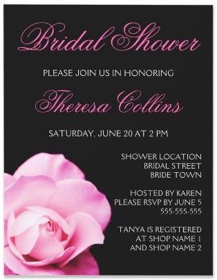 Romantic pink rose bridal shower invitation romantic pink rose bridal shower invitation filmwisefo