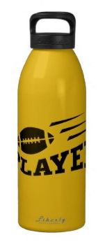 Football player water bottle