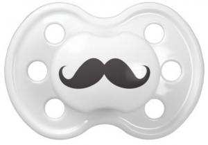 Funny black handlebar mustache pacifier for little boys