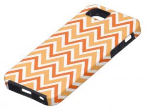 Trendy orange zigzag chevron pattern iPhone 5 case