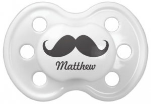 Cute custom name moustache dummy