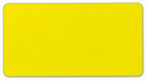 Plain bright yellow solid background blank address label
