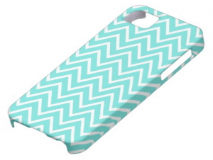 Teal or turquoise aqua blue cute girly chevron zigzag pattern chic iPhone 5 case