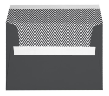 Fashionable envelopes featuring a stylish dark grey chevron zigzag pattern